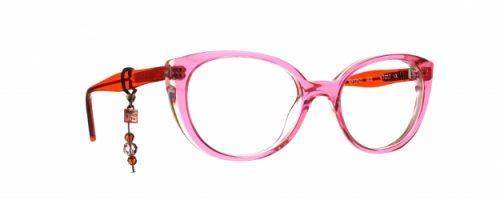 Caroline Abrahampour les enfants tete à lunette rose avec bijou